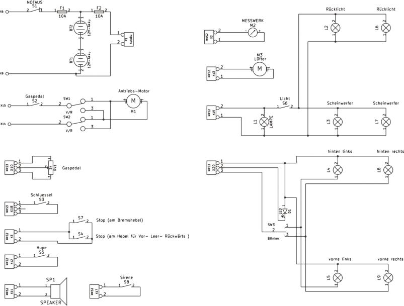 Kinderauto (3/3), technische Beschreibung: die Elektrik